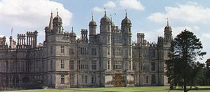 Elizabethan architecture - Burghley House, completed in 1587