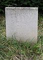 Burial marker southwest gardens Hatfield House Hertfordshire England.jpg