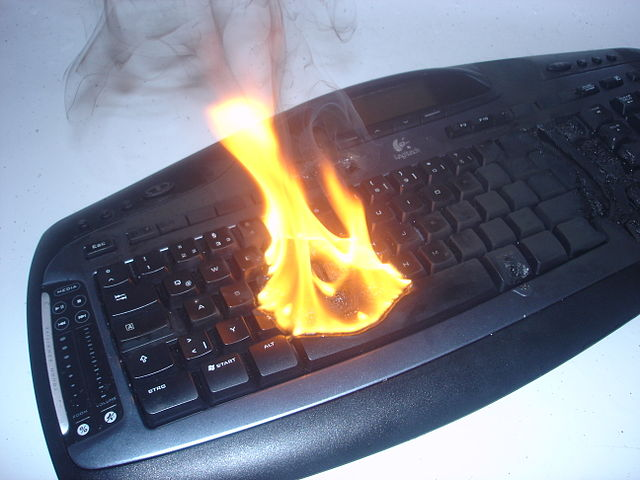 burning logitech