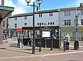 Bus shelter and information board, corner of Market Street - geograph.org.uk - 2141809.jpg