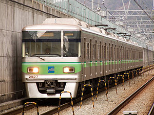 Busan Metro Line 2 - Image: Busan subway 2000 27th unit 20090223