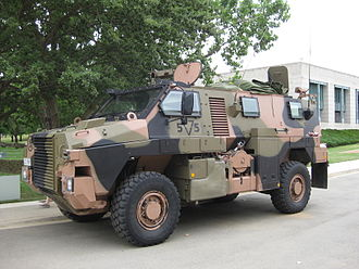 Royal Australian Corps of Transport - An Australian Army Bushmaster PMV on display