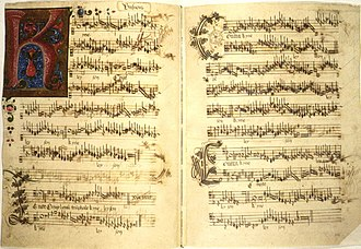 Antoine Busnois - Manuscript of Missa O Crux Lignum, a Mass by Busnois. The date is not certain but probably mid-15th century.