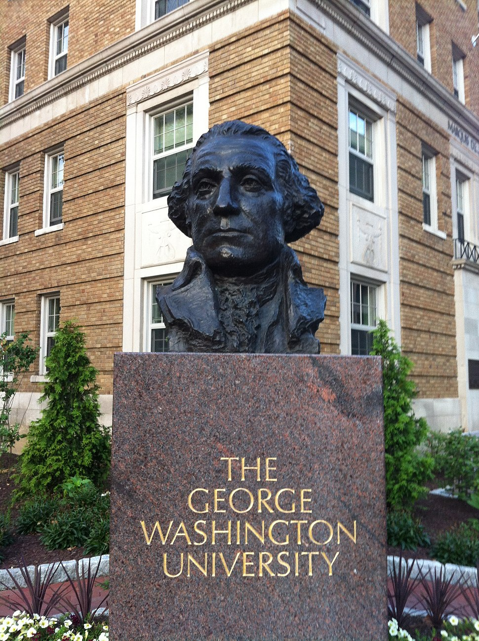 Bust of George Washington - George Washington University - Washington DC