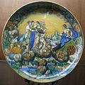 C.sf., pesaro, pittore del pianeta venere, coppa con il carro di venere, 1544.JPG