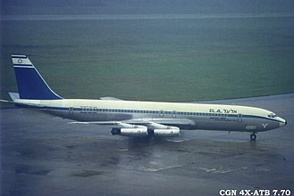 Dawson's Field hijackings - 4X-ATB, the aircraft involved, in July 1970