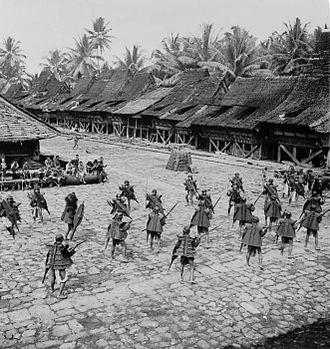 Balato (sword) - A Faluaya dance or war dance of the Nias people, pre 1954.