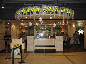 California Pizza Kitchen - The Ocean Terminal, Hong Kong location at Christmastime