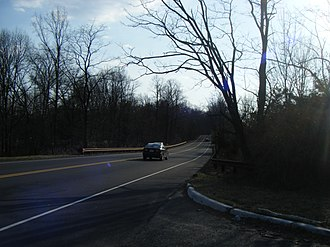 County Route 527 (New Jersey) - CR 527 southbound in Berkeley Heights