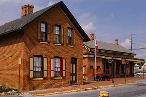Cumberland Valley Railroad Station and Station Master's House - Cumberland Valley Railroad Station, September 2013
