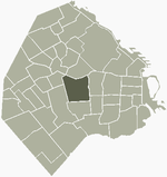 Location of Caballito within Buenos Aires