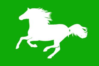 Rohan (Middle-earth) - Image: Caballo en verde