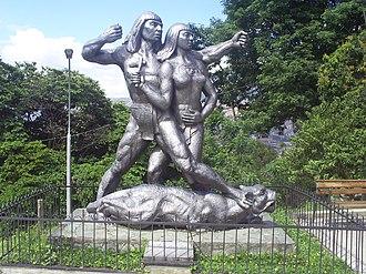 Nutibara sculpture park - Cacique Nutibara, by José Horacio Betancur