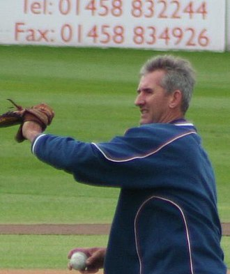 Andrew Caddick - Caddick warming up prior to a one-day match