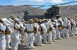 California National Guard Chinooks airlift Marines training in mountain warfare tactics to high elevation landing zones 140328-A-YY327-435.jpg