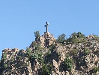 Ardoix - Calvary in the Ay Gorges between Sarras and Ardoix