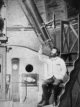 Camille Flammarion Observatory - Flammarion in the observatory circa 1893.