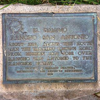 Camino of Rancho San Antonio trail in California