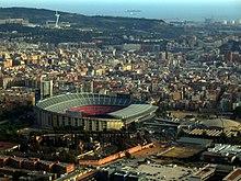 vue aérienne d'un stade