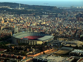1972 European Cup Winners' Cup Final - The final was held in the Camp Nou Barcelona