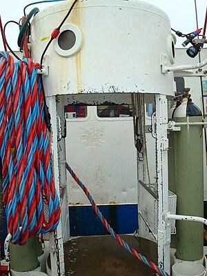 Diving bell - Exterior view of an open (wet) diving bell