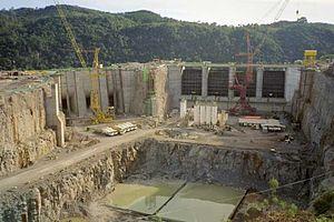 Campos Novos Dam - Image: Campos Novos Dam Construction
