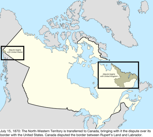 Map Of Canada 60th Parallel.Territorial Evolution Of Canada Wikiwand
