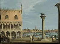 Canaletto - View of the Piazetta with the Southwest corner of the Doge Palace.jpg