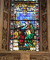 Cappella di filippo strozzi, vetrata su disegno di filippino lippi, 02.JPG