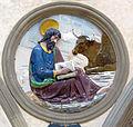 Cappella pazzi, evangelisti di luca della Robbia, san luca.JPG