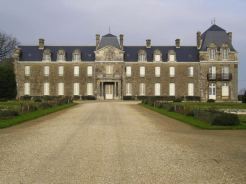South view of the château of Caradeuc, France.