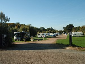 English: Caravan Site With the River Ouse and ...
