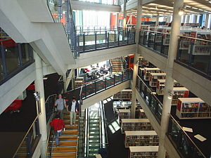 Cardiff Central Library - The interior of Cardiff Central Library