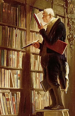 detail of Carl Spitzweg: The Bookworm