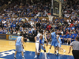 Carolina–Duke rivalry - Cameron Indoor Stadium provides spectators with a close-up view of the action.