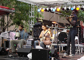 Carolina Chocolate Drops - The Carolina Chocolate Drops performing in Birmingham, Alabama, in June 2008.