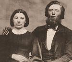 Caroline and Charles Ingalls sepia cropped.jpg