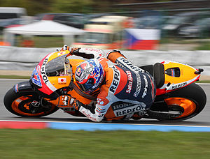 Grand Prix motorcycle racing - Casey Stoner at MotoGP Brno