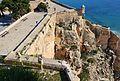 Castell de la santa Bàrbara d'Alacant, buit deixat per l'explosió de la mina.JPG