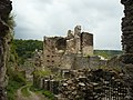 Castle Hardegg - broken walls.JPG