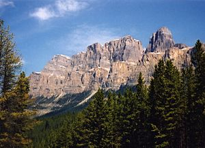 Castle Mountain - From the Trans-Canada Highway