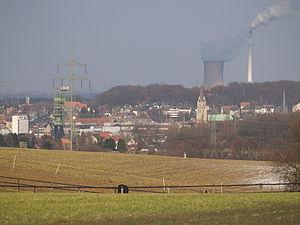 Der Stadtkern von Castrop, von Westen aus gesehen
