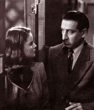 Carlo Ninchi - Ninchi and Alida Valli in the film  Catene invisibili (1942)