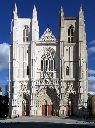 Nantes - Nantes Cathedral, rebuilt in the Gothic style beginning in the 15th century