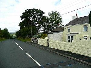 Coelbren, Powys - Image: Cefn Byrle Road, Coelbren geograph.org.uk 918692