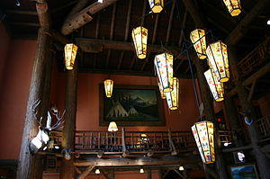 Lake McDonald Lodge - Lanterns in the lobby