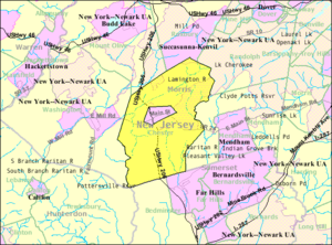 Chester Township, New Jersey - Image: Census Bureau map of Chester Township, New Jersey