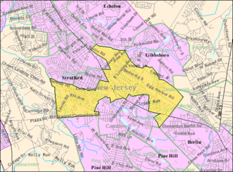 Lindenwold, New Jersey - Image: Census Bureau map of Lindenwold, New Jersey