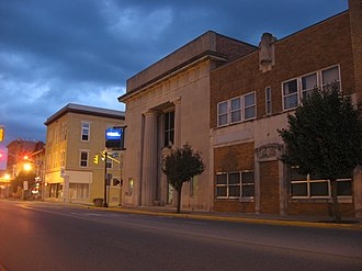 National Register of Historic Places listings in Fayette County, Indiana - Image: Central at Sixth in Connersville
