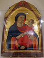 Cerchia di lippo di benivieni, madonna col bambino, 1310-30 ca., da s.lorenzo a montegufoni.JPG